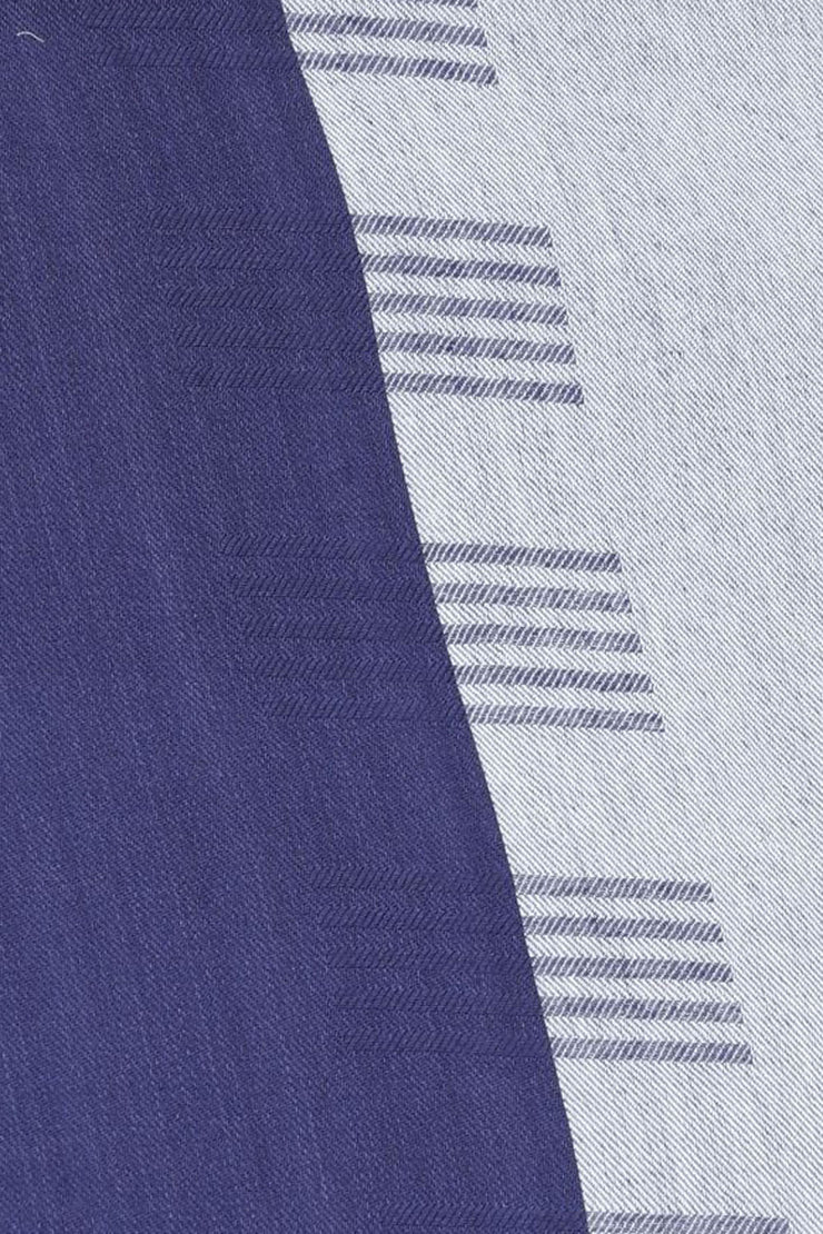 Viscose Stole in Navy And Grey