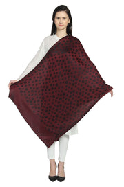 Modal Shawl in Red And Black
