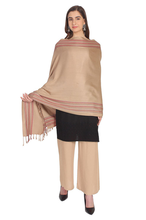 Viscose Shawl in Beige