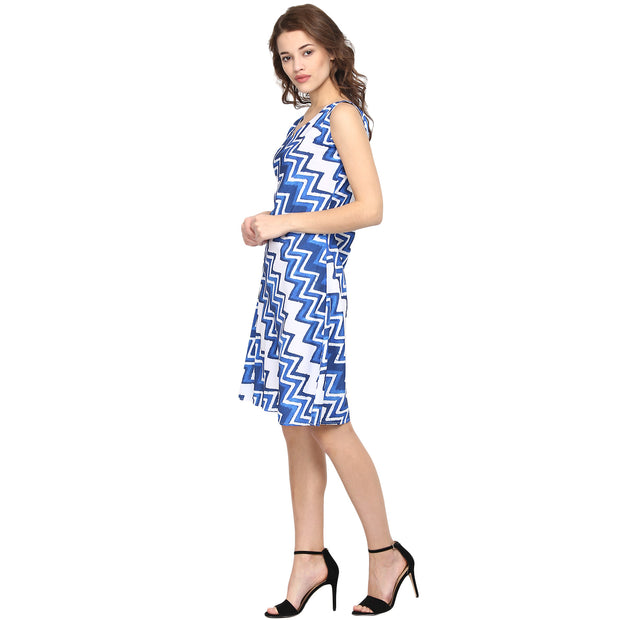 Polyester Dress in Blue