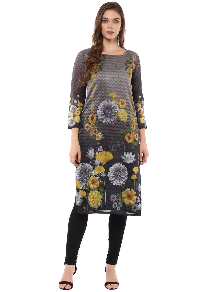 Buy Chanderi  Kurta in Multi Online