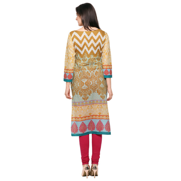 Cotton Kurta in Sky Blue