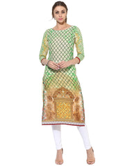 Cotton Printed Kurta in Multi