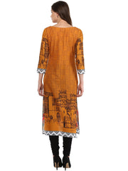 Cotton Kurta in Orange
