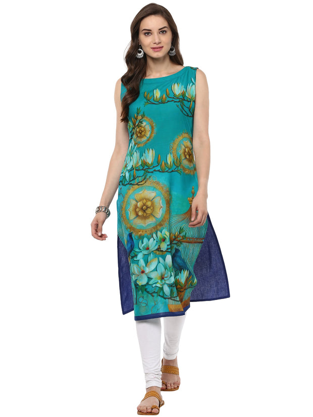 Cotton Kurta in Blue