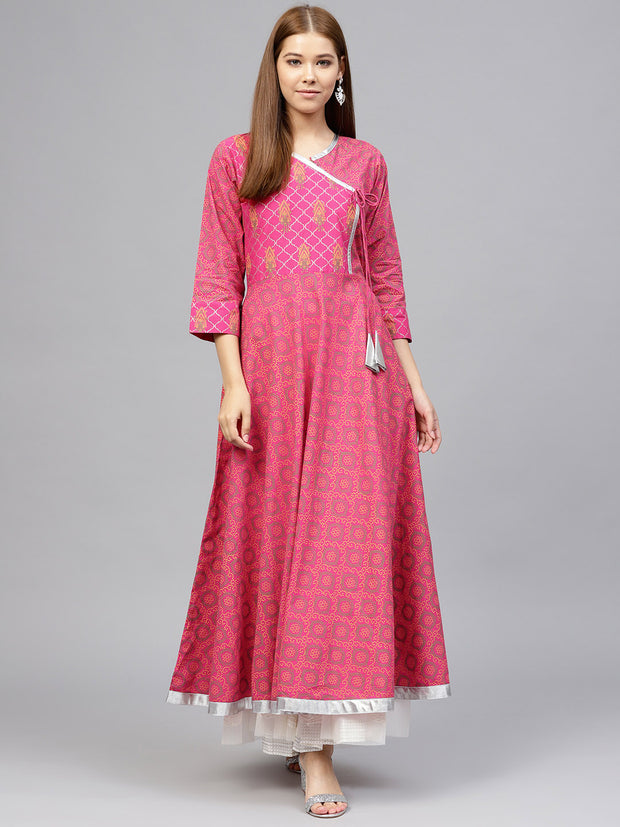 Ahalyaa Women's Cotton Kurta in Red
