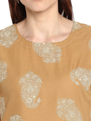 Cotton Kurta in Mustard