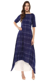 Buy Cotton Printed Kurta in Blue Online