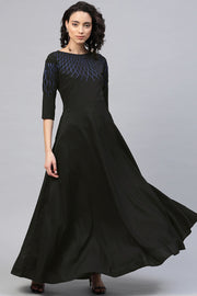 Buy Women's Crepe Kurta In Black