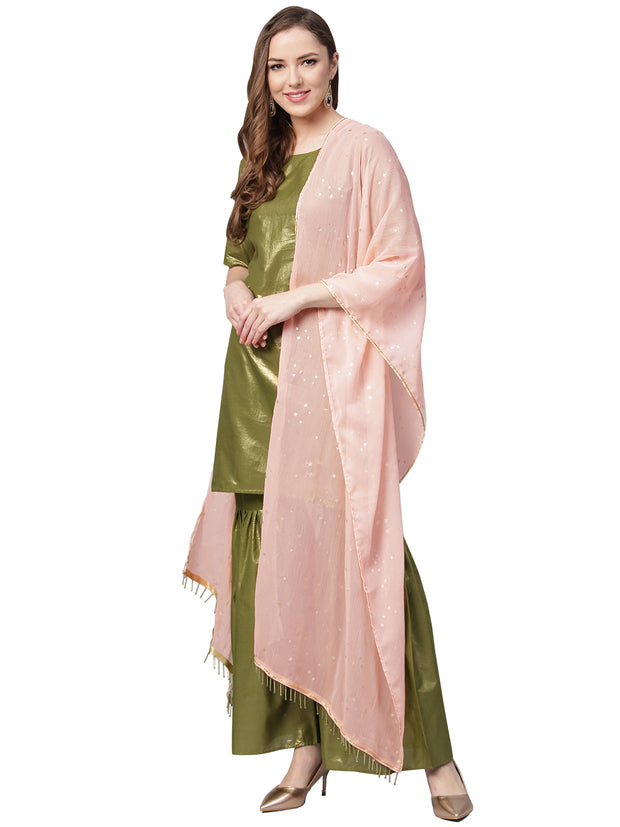 Buy Cotton Kurta Set in Green Online