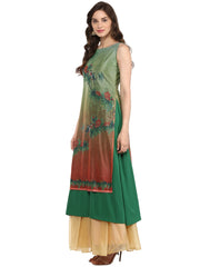 Polyester Kurta in Green
