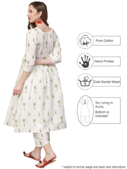 Cotton Kurta Set in White Online Shopping