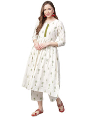 Buy Cotton Kurta Set in White Online