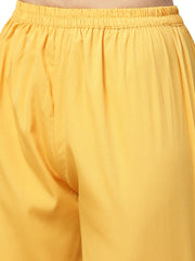 Polyester Kurta Set in yellow