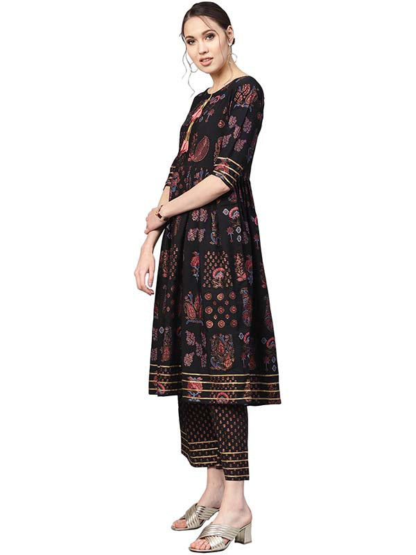 A-Line Kurta Set For Woman's