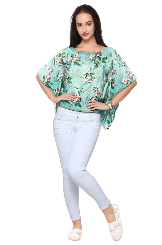 Polyester Top in Green