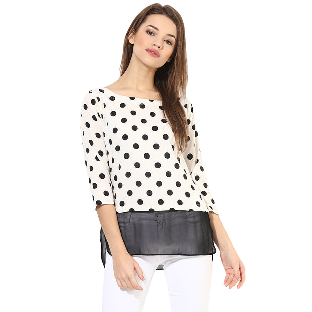 Polyester Top in White
