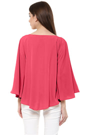 Polyester Top in Coral Pink