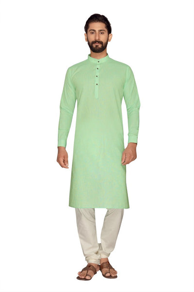 Atool Women's Polly Linen kurta set in Lime Green