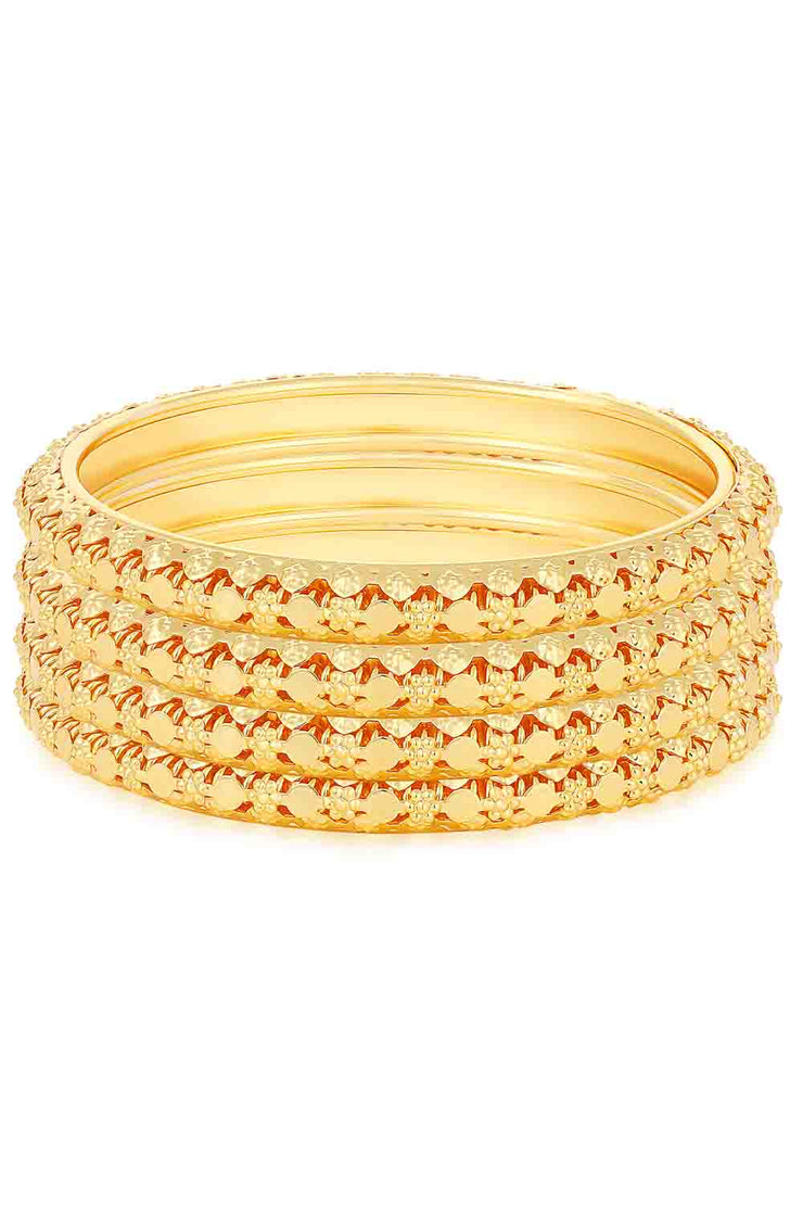 Women's Alloy Bangle Set in Gold