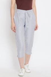 Blended Cotton Trouser in Grey