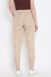 Blended Cotton Trouser in Brown