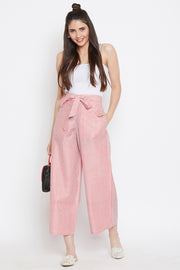 Blended Cotton Trouser in Red
