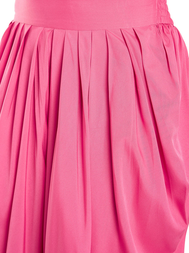 Crepe Solid Dhoti in Pink