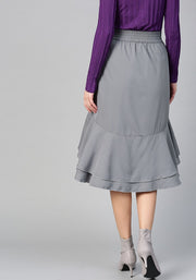 Women's Polyester Skirt in Grey