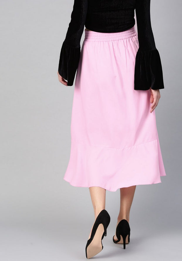 Women's Polyester Skirt in Pink