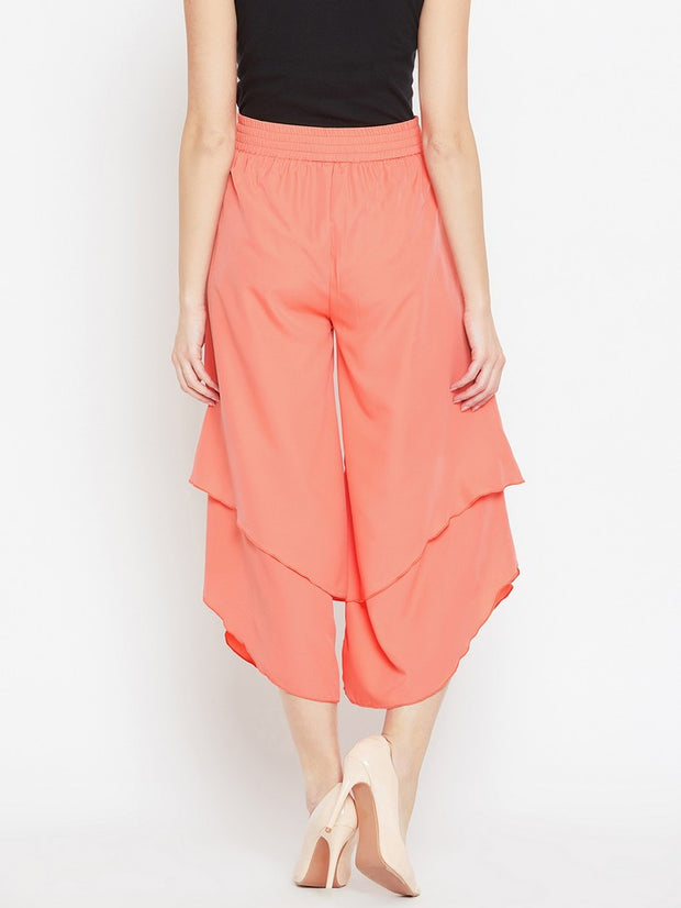 Parallel Trousers in Peach