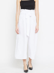 Parallel Trousers in White