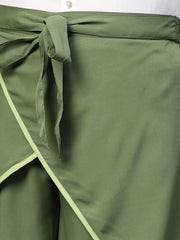 Polyester Trousers in Olive