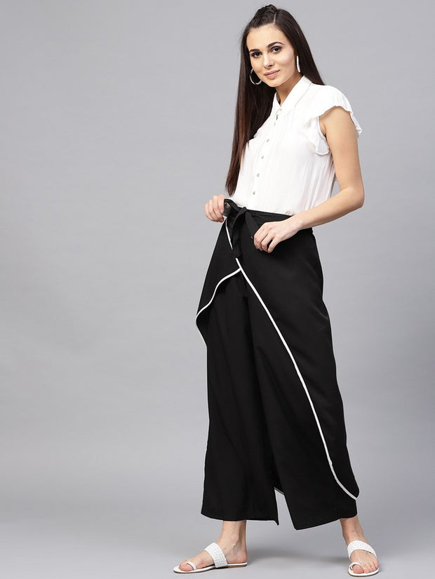 Polyester Trousers in Black