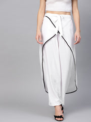 Polyester Trousers in White