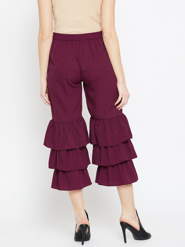 Parallel Trousers in Burgundy