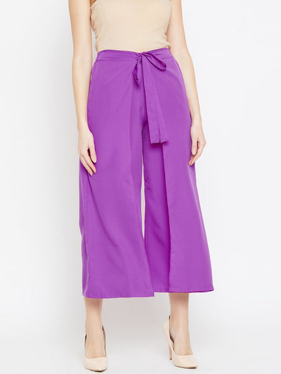 Parallel Trousers in Purple