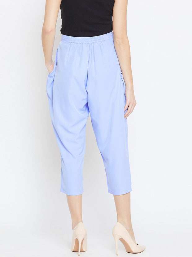Drop Crotch Trousers in Blue