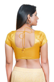 Polyester Padded Blouse in Dark Gold