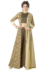 Rayon Gown in Brown