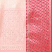 Art Silk Katan Woven Design Saree in Peach Pink