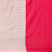 Art Silk Katan Woven Design Saree in Light Pink