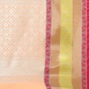 Art Silk Katan Woven Design Saree in Orange