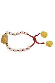 Women's Silver Bracelet in Yellow