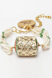 Women's Ceramic Bracelet in Green