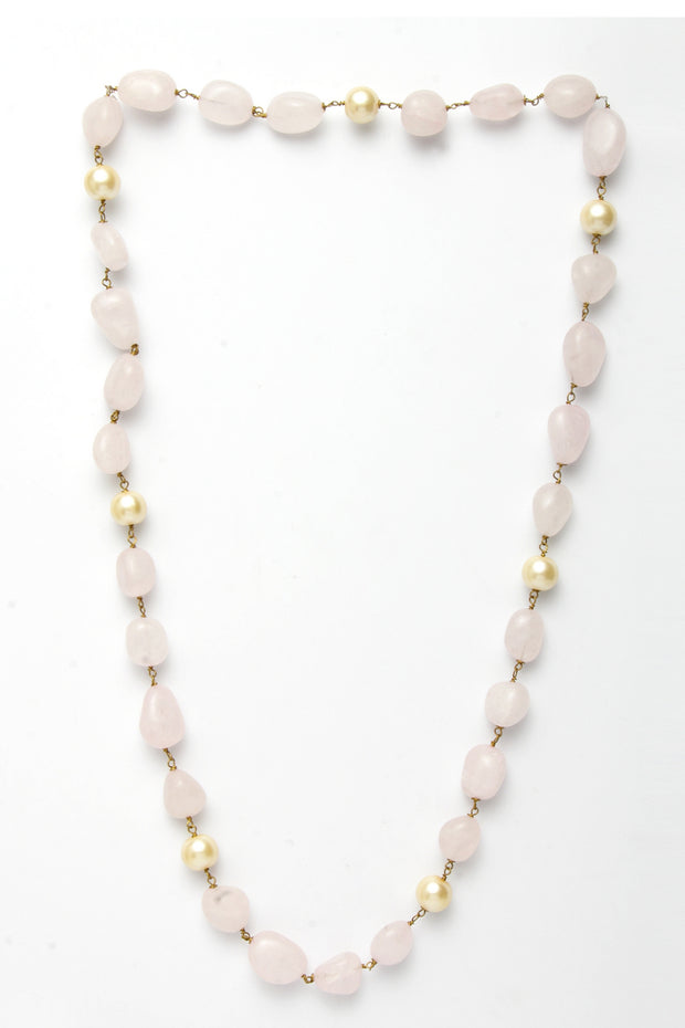 Women's Silver Necklace in Pink