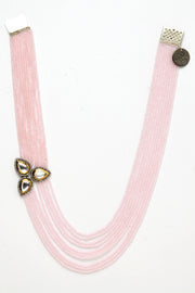 Women's Copper Necklace in Pink