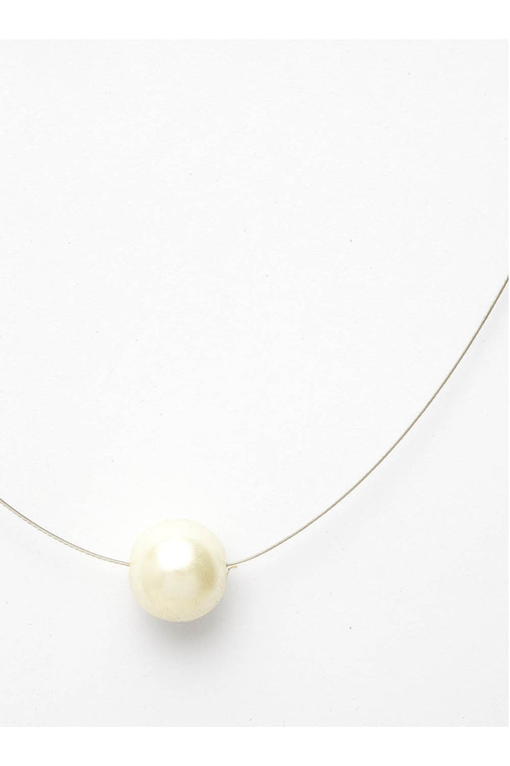Women's Sterling Silver Necklace in White
