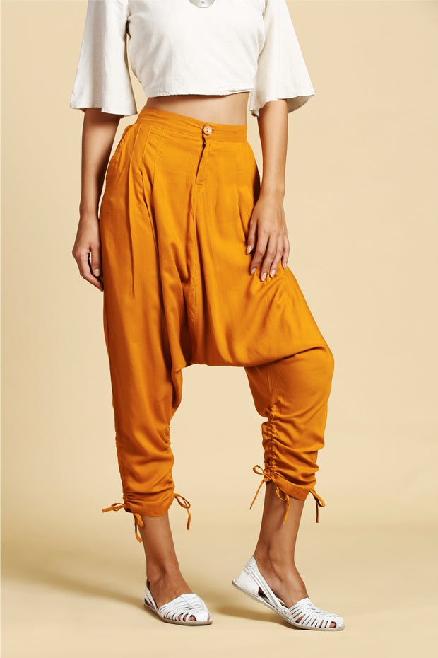 Blended Cotton Jodhpuri Pant in Mustard