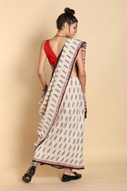 Blended Cotton Saree in Beige
